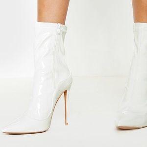 White High Point Sock Boot